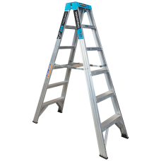 6 Step Aluminium Double Sided Ladder - 150kgs Rated