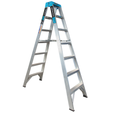 7 Step Aluminium Double Sided Ladder - 150kgs Rated