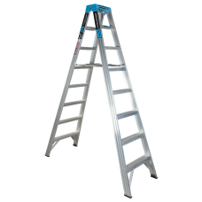 8 Step Aluminium Double Sided Ladder - 150kgs Rated