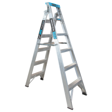 6 Step Aluminium Dual Purpose Ladder - 150kgs Rated