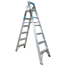7 Step Aluminium Dual Purpose Ladder - 150kgs Rated