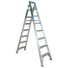 8 Step Aluminium Dual Purpose Ladder - 150kgs Rated