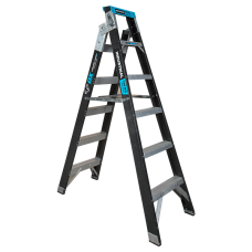 6 Step Fibreglass Dual Purpose Ladder - 150kgs Rated