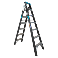 7 Step Fibreglass Dual Purpose Ladder - 150kgs Rated