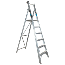 6 Step Aluminium Platform Ladder - 150kg Rated