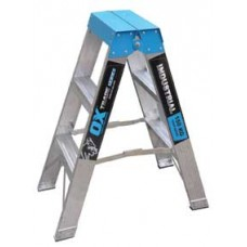 3 Step Aluminium Double Sided Ladder - 150kgs Rated